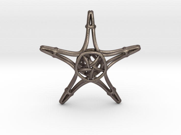 Starfish Wireframe Keychain 3d printed