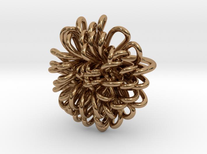 Ring 'Wiener Blume', Size 6.5 (Ø 16.9 mm) 3d printed