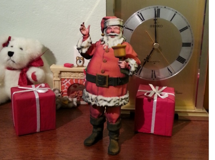 Santa Ringing a bell 1:12 scale 3d printed