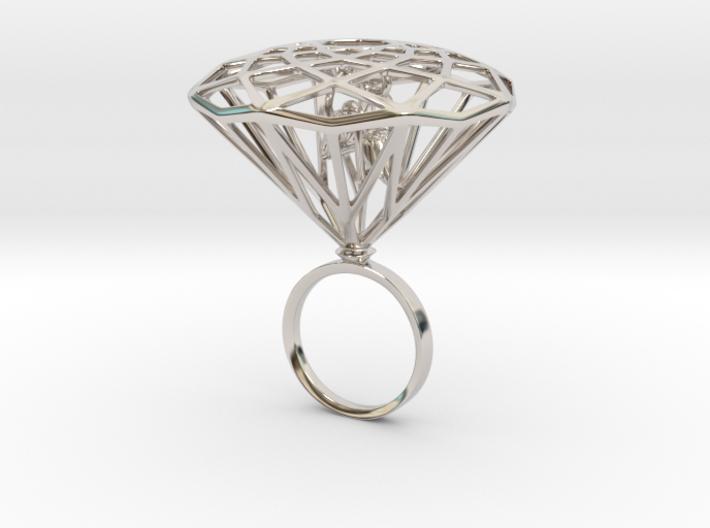 Diamond Bird Steel size 17.5 mm 3d printed