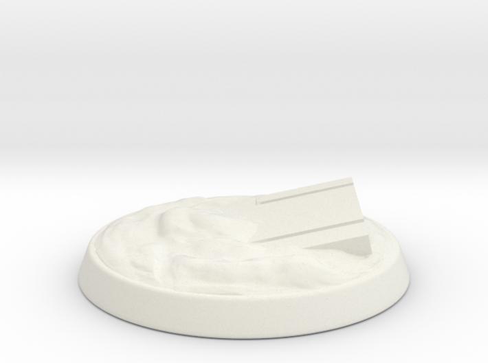 Necron Style Base 01 3d printed White base