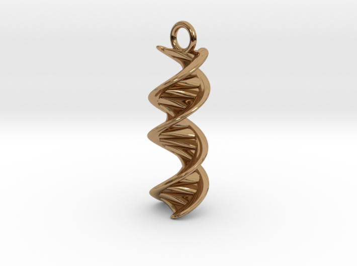 DNA Helix Earring 3d printed