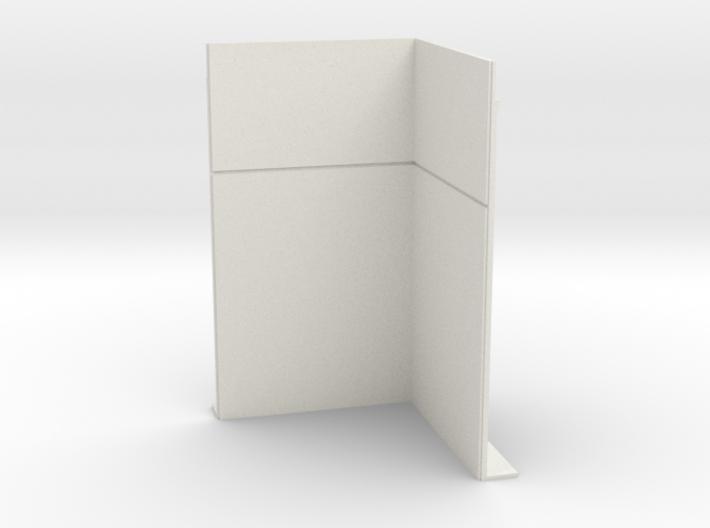 Corner Wall; Inside 3d printed