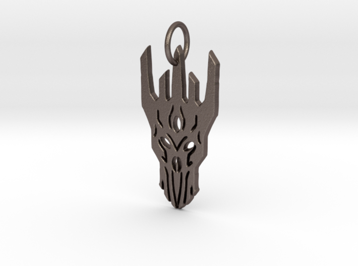 Sauron Helm Pendant 3d printed