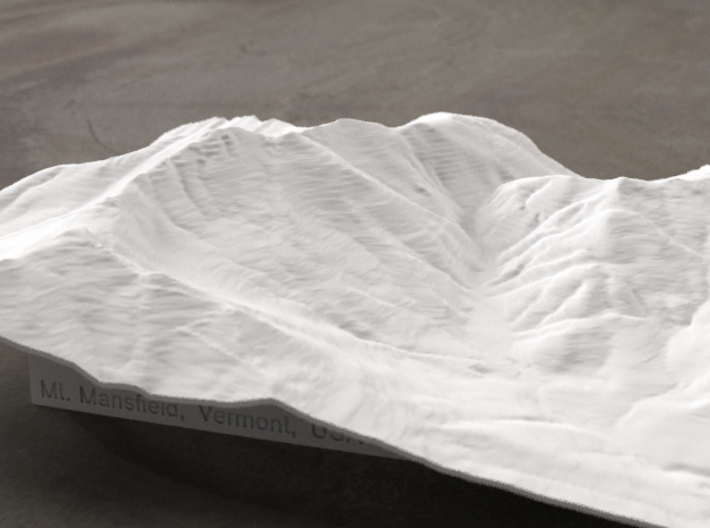 8'' Mt. Mansfield, Vermont, USA, WSF 3d printed