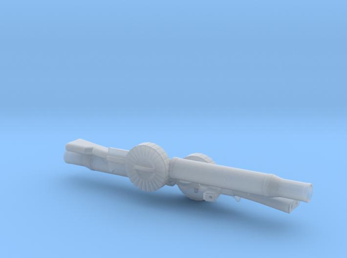 Two 1/18 scale Lewis Machine Guns. 3d printed