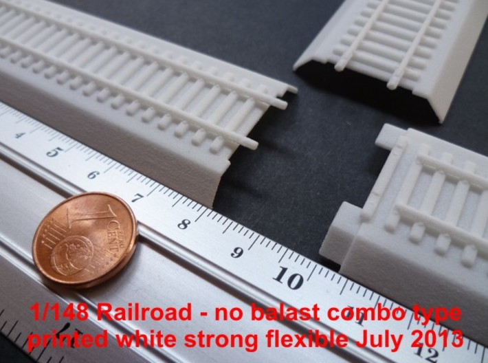 N-Scale Railroad Section 3d printed