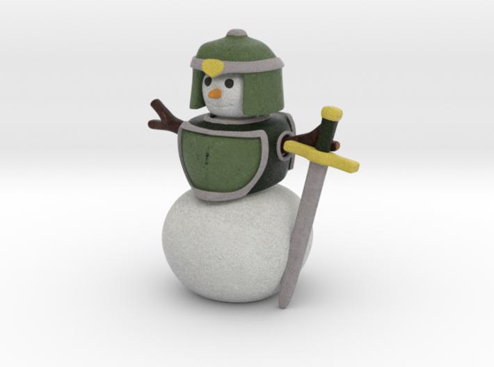 Snowman Warrior 3d printed
