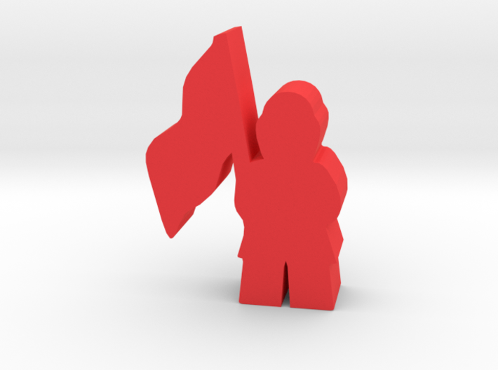 Game Piece, Civil War Soldier, standing, cap, flag 3d printed
