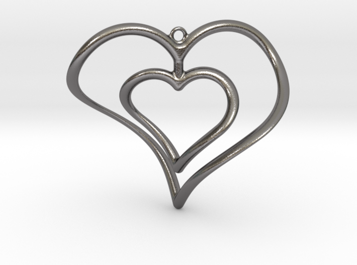 Hearts Necklace / Pendant-02 3d printed
