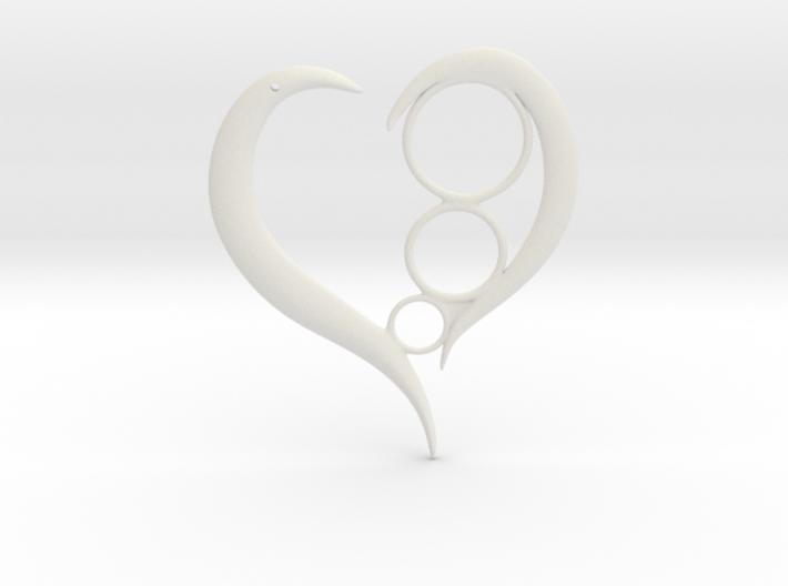 Heart Token/ Pendent 3d printed