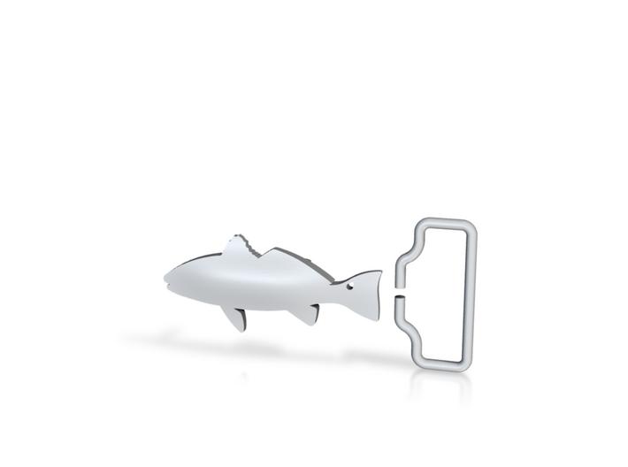 Redfish Belt Buckle w/ Loop 3d printed