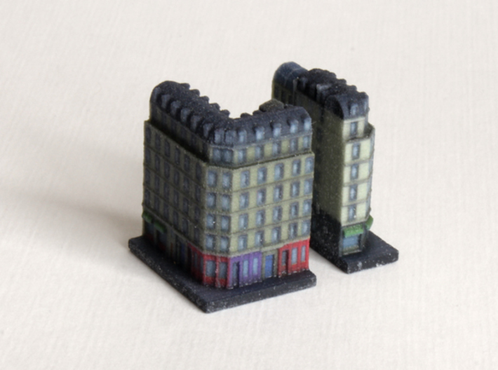 Paris Apartment Block A (2x2, 1x2) 3d printed
