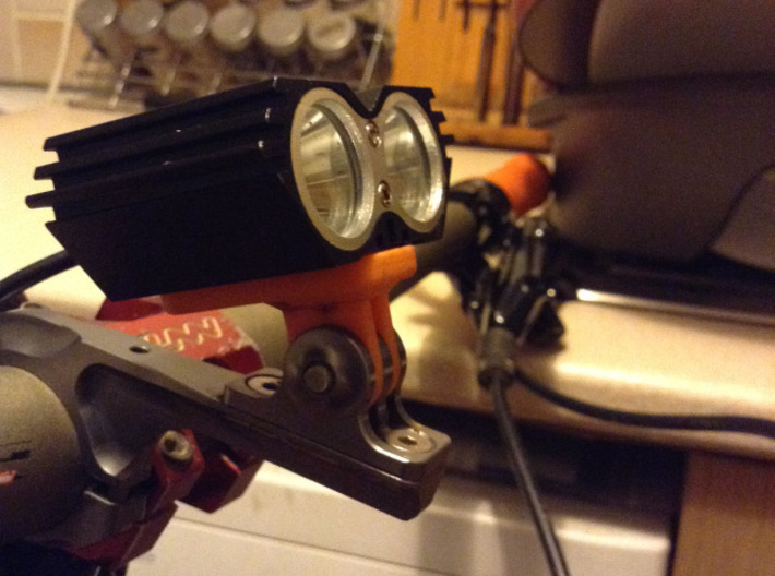 Cree light - Gopro mount adapter 3d printed