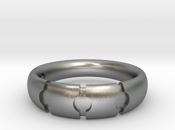 Enigmatic ring_Size 8 3d printed