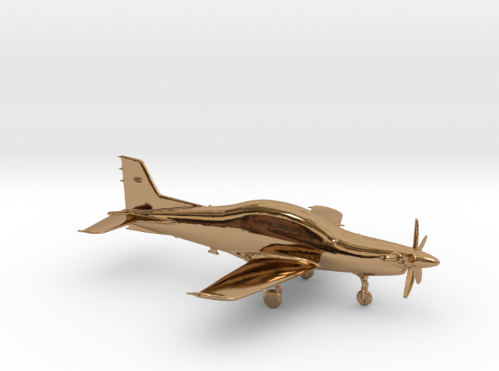 Pilatus PC-21 Turboprop gold & precious materials 3d printed
