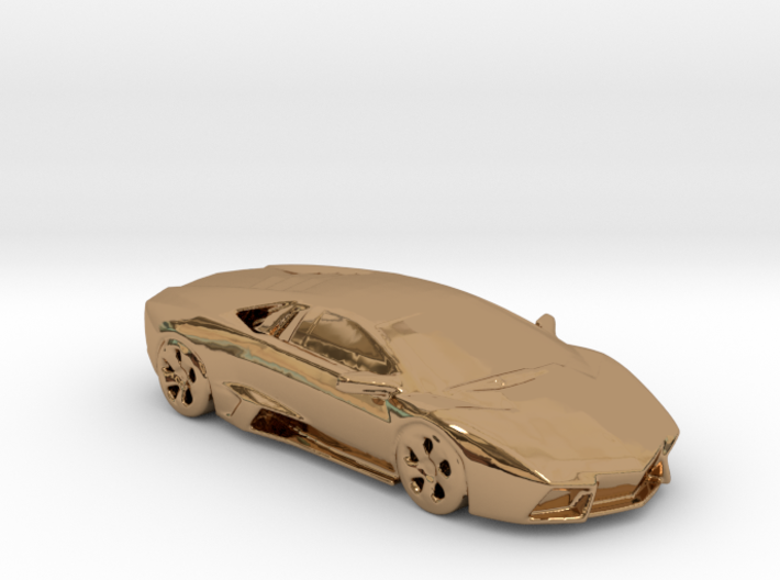 lamborghini gold 100mm 3d printed