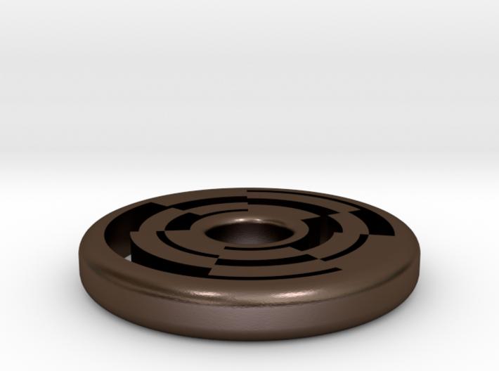 Circular Maze Pendant 3d printed
