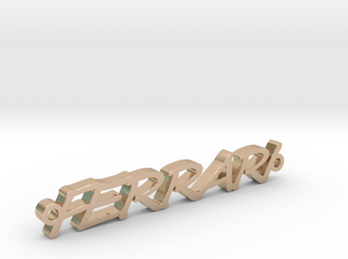Ferrari chain gold 3d printed