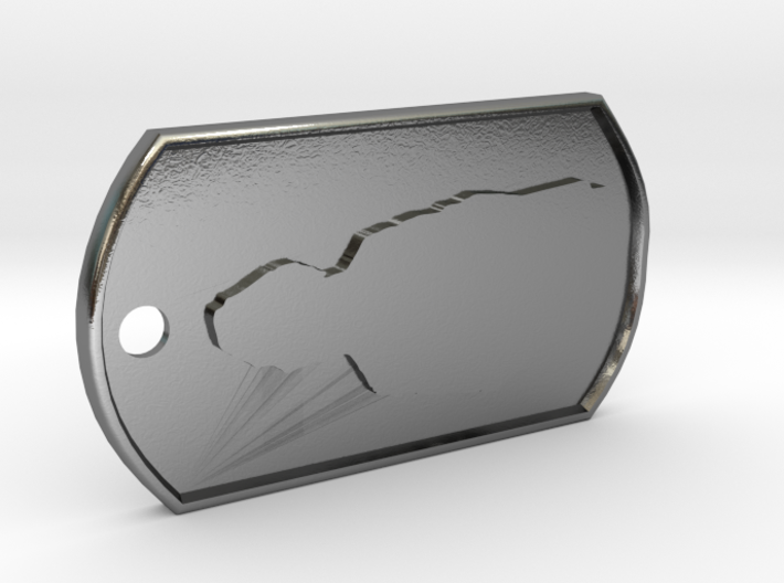 James May Silhouette Dog Tag 3d printed