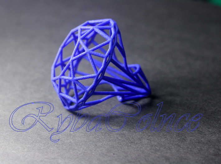 Ring The Diamond / size 6 US (16,5 mm) 3d printed