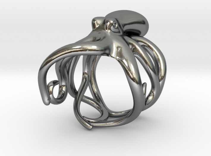 Octopus Ring 21mm 3d printed