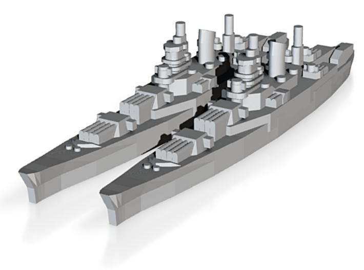 Dunkerque class battlecruiser x2 1/4000 3d printed