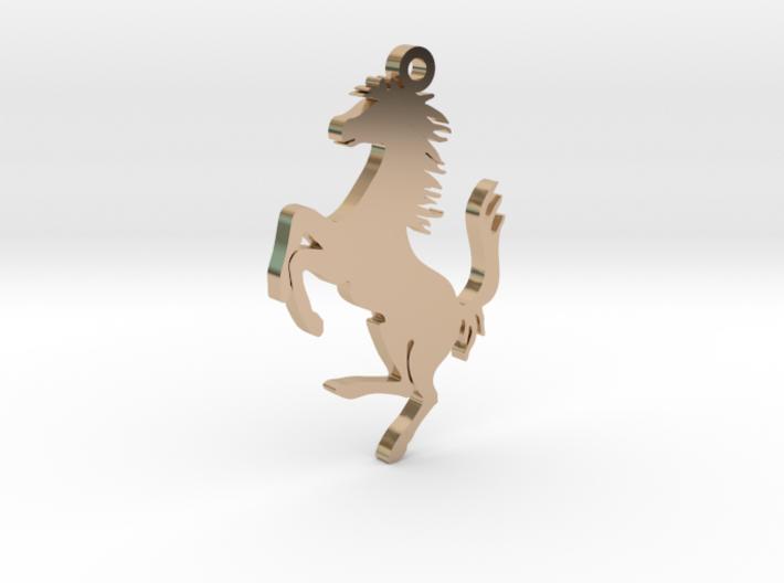 Neckless chain Ferrari gold 3d printed