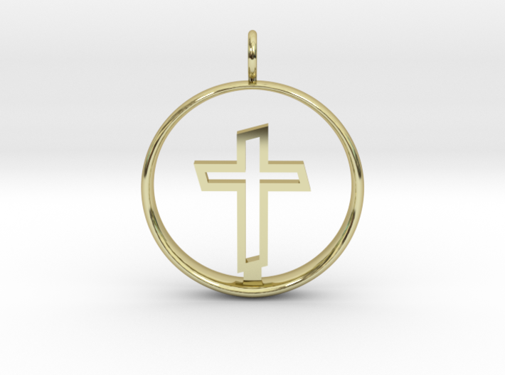 Cross Pendant 2 - (Medium) 3d printed