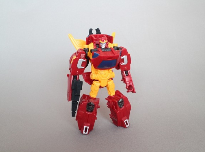 TAV Runabout CW Rodimus Wing hold and Weapon Parts 3d printed