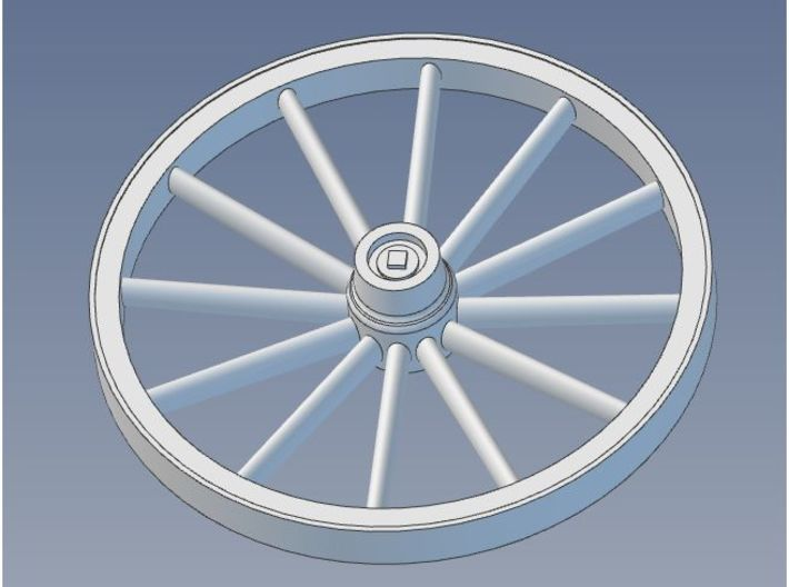 Wagon Wheels HO 48 Inch 12 Spoke X4 3d printed