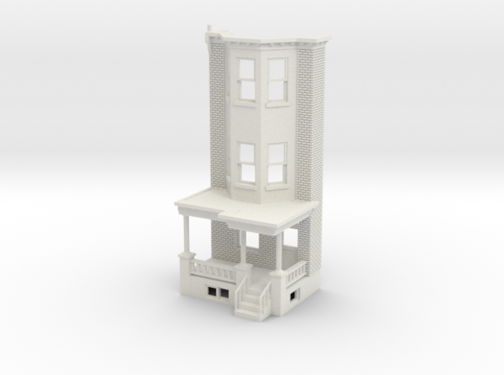 WEST PHILLY 3S ROW HOME 87 Brick RD 3d printed