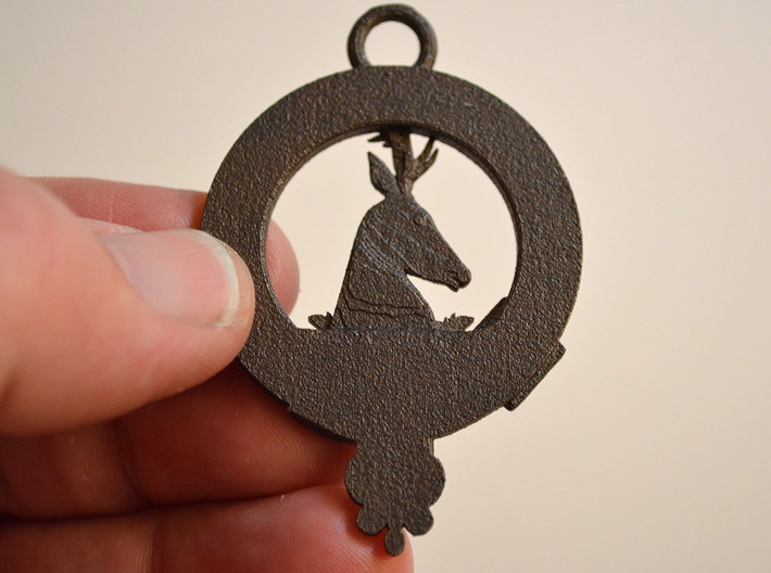 Keith Clan Crest key fob 3d printed