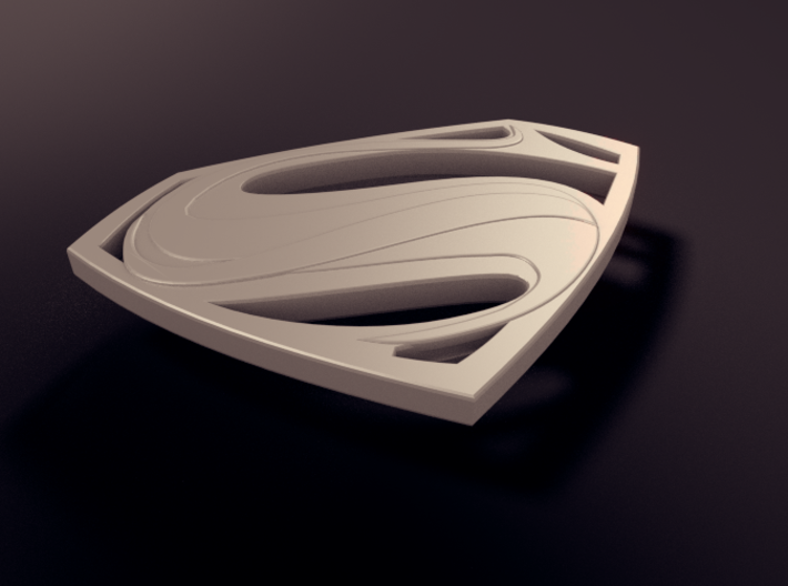 Man Of Steel - Emblem 3d printed Rendered View