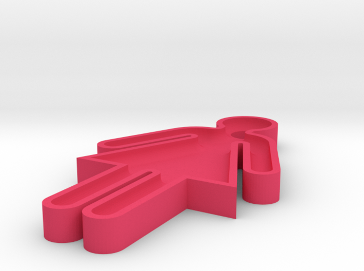 washroom key 100% scale 3d printed