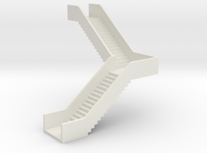 N Station Stairs H40 90° Left 3d printed