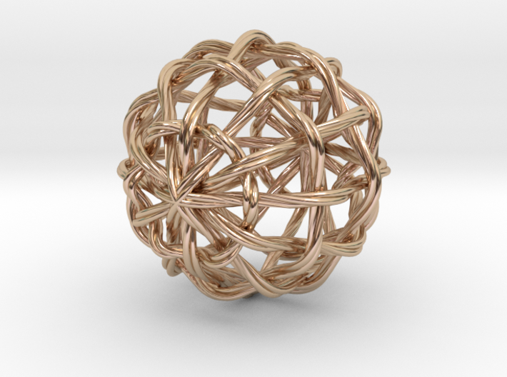 0396 Waves on the Sphere (d=5cm) #002 3d printed