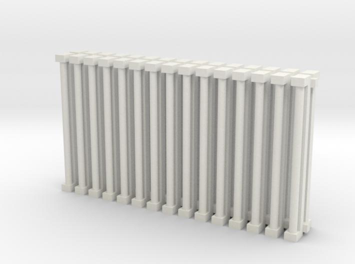 Florscent Light Single Tube Fixtures 3d printed