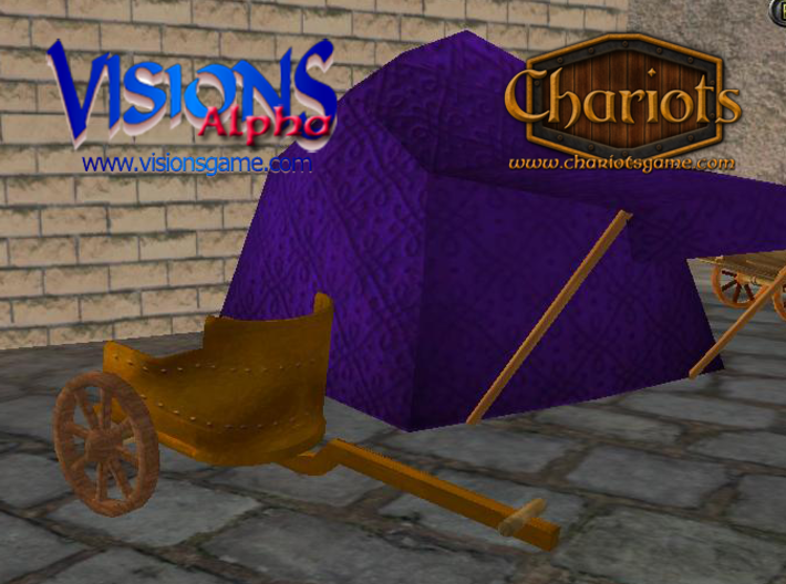 Chariot Riveted 3d printed Riveted Bronze Chariot - screenshot from Visions alpha