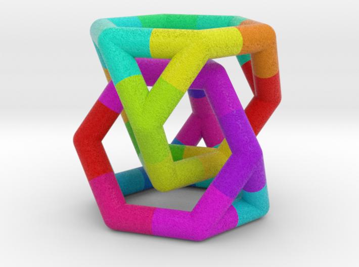 0291 Two Truncated Tetrahedron E (a=1cm, fc) 3d printed