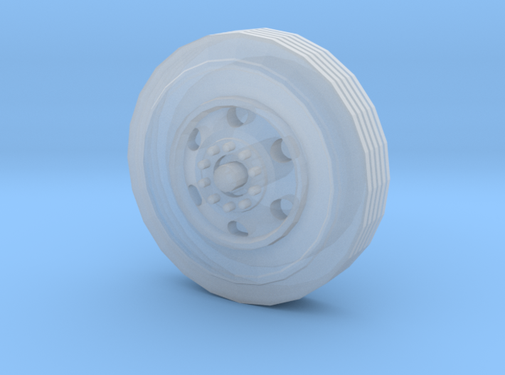 6-hole Bud Style Wheel With Tire 3d printed