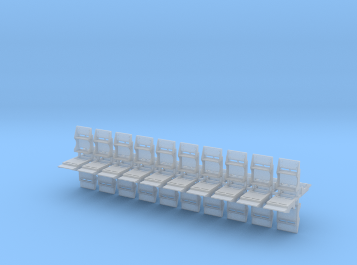 Clinchfield Cabose Steps 40x - HO scale 3d printed
