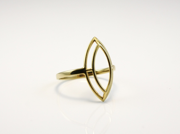 Marquise Simple Wire Ring - US Size 09 3d printed