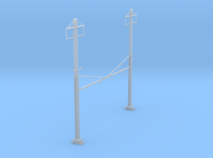 CATENARY PRR 4 TRACK 2PHASE N SCALE 3d printed
