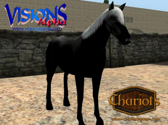 Horse Ultra Black Fancy 3d printed Fancy Ultra Black - Sparkling's favorite!