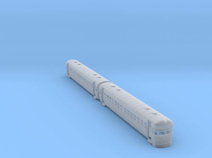 Silver Bullet Queensland Railcar 3d printed