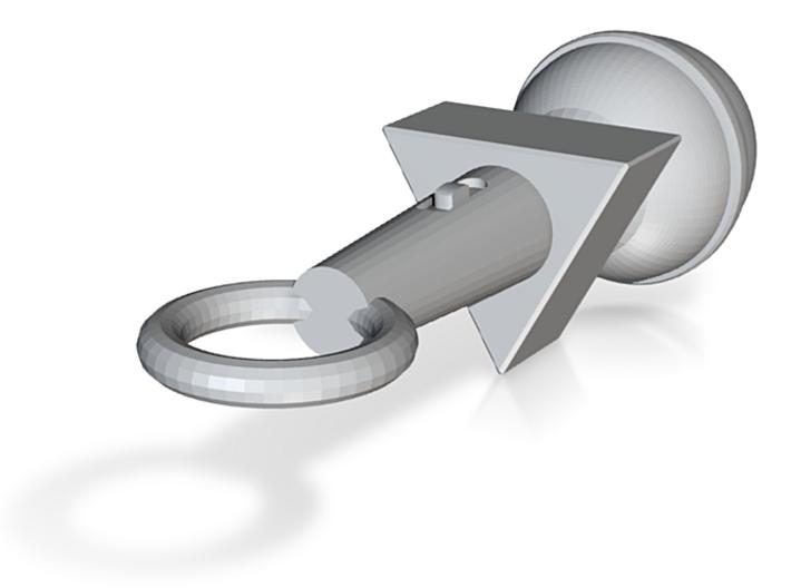 Microphone Pendant (customizable) 3d printed