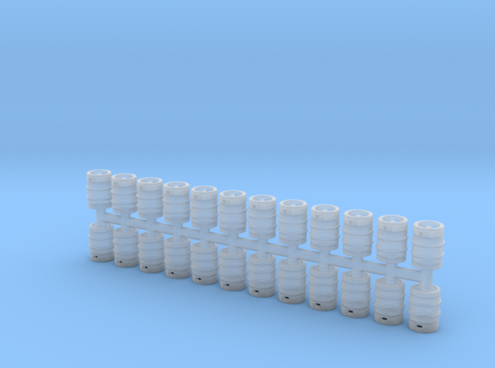 Beer Barrel. HO Scale (1:87) x24 units 3d printed
