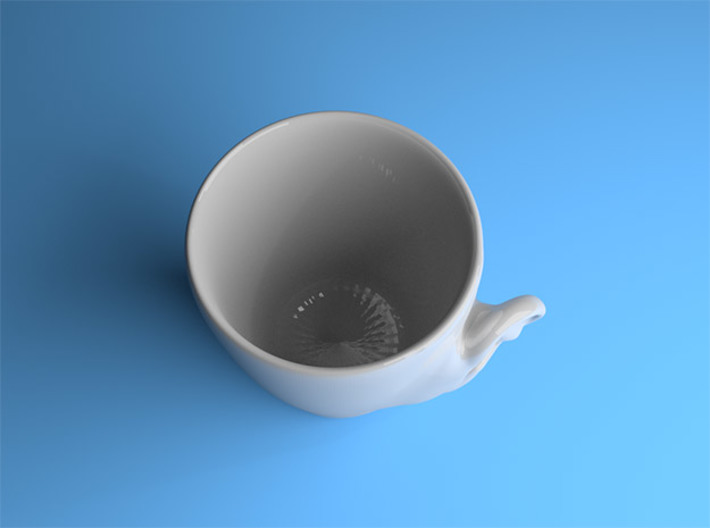 Coffee mug #3 - Real ear 3d printed