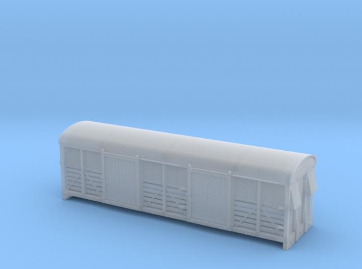 LMS 6 Wheel Milk Van body slat sides - 4mm scale 3d printed